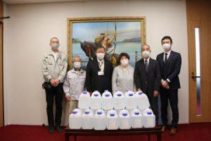 Oasis 100(次亜塩素酸生成水)を大田原市様に寄附させていただきました